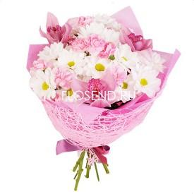 Букет из розовых орхидей