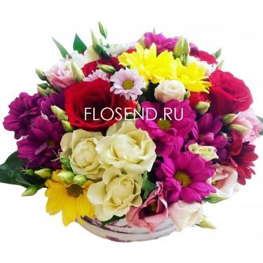 Цветы в коробке № 216